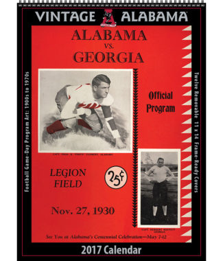 2017 Vintage Alabama College Football Calendar
