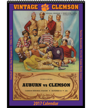 The 2017 Vintage Clemson Tigers Football Calendar