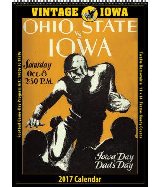 The 2017 Vintage Iowa Hawkeyes Football Calendar