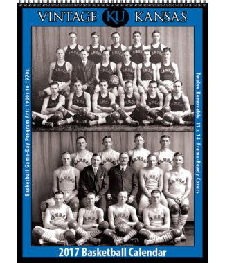 The 2017 Vintage Kansas Jayhawks Basketball Calendar