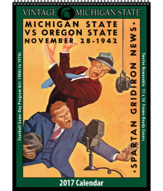 The 2017 Vintage Michigan State Spartans Calendar