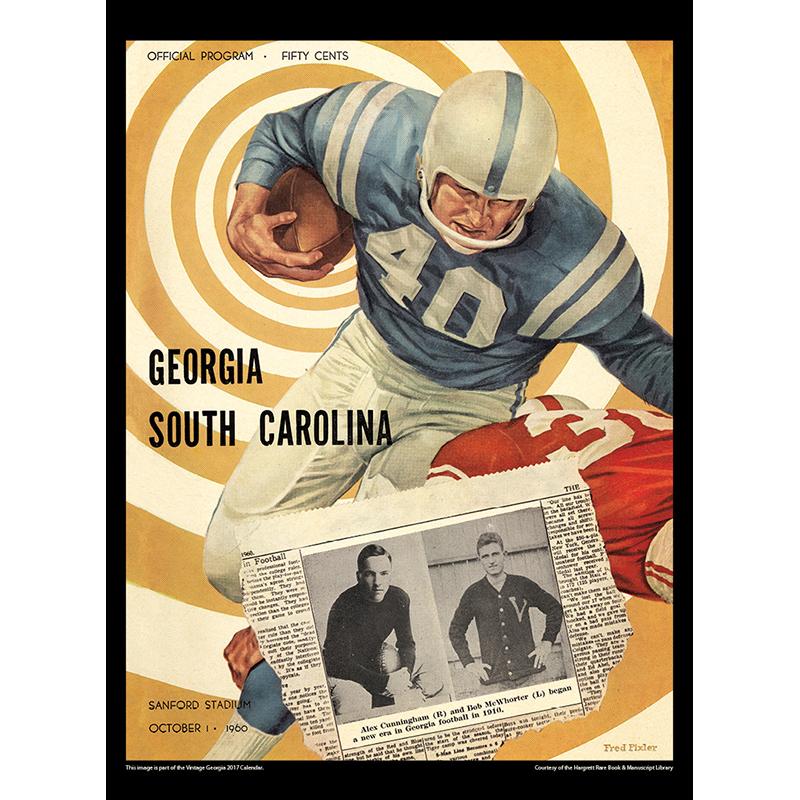 2017 Vintage Georgia Bulldogs Calendar May Image