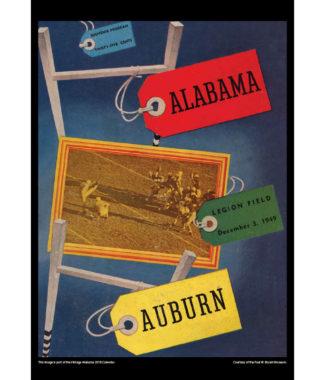 2018 Vintage Alabama Crimson Tide Football Calendar June