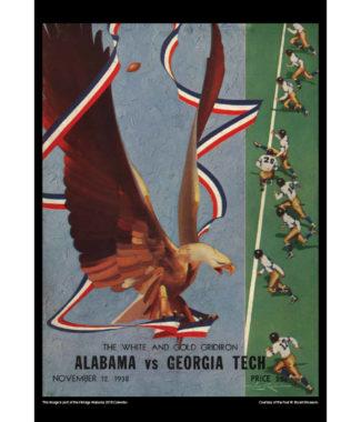 2018 Vintage Alabama Crimson Tide Football Calendar March
