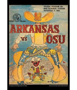 2018 Vintage Arkansas Razorbacks Football Calendar January