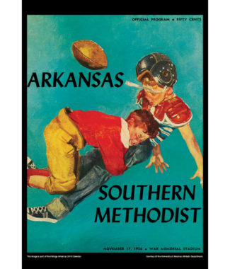 2018 Vintage Arkansas Razorbacks Football Calendar October