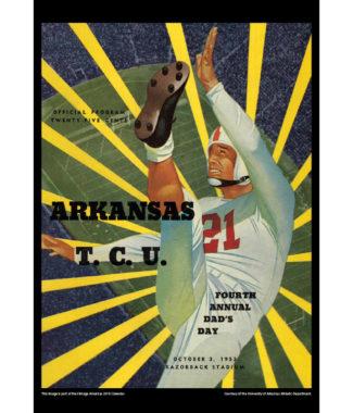 2018 Vintage Arkansas Razorbacks Football Calendar November