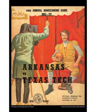 2018 Vintage Arkansas Razorbacks Football Calendar December
