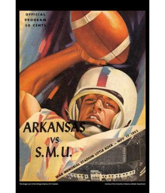 2018 Vintage Arkansas Razorbacks Football Calendar May