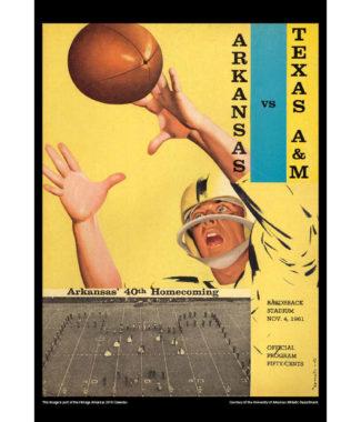 2018 Vintage Arkansas Razorbacks Football Calendar June