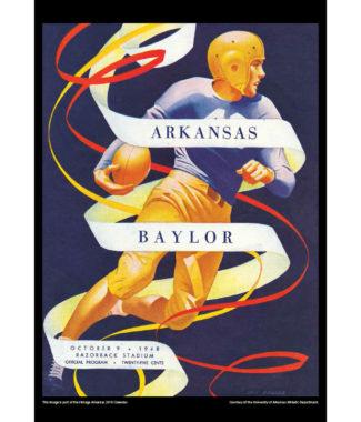 2018 Vintage Arkansas Razorbacks Football Calendar July