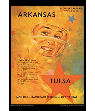 2018 Vintage Arkansas Razorbacks Football Calendar August