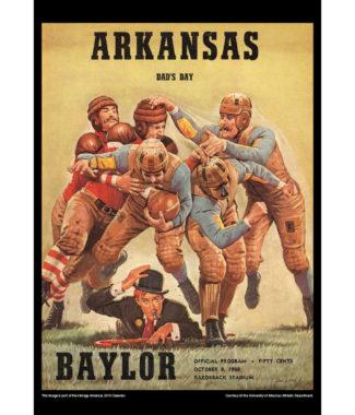 2018 Vintage Arkansas Razorbacks Football Calendar September
