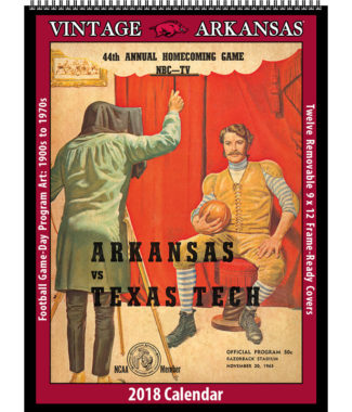 2018 Vintage Arkansas Razorbacks Football Calendar