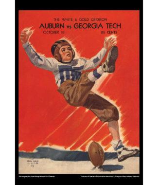 2018 Vintage Auburn Tigers Football Calendar July