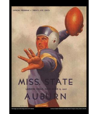 2018 Vintage Auburn Tigers Football Calendar August