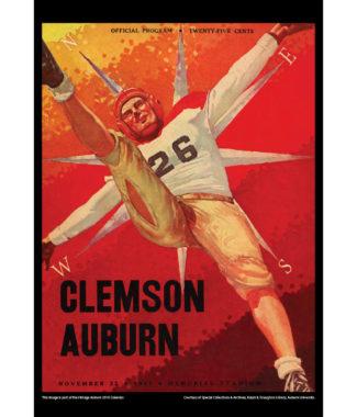 2018 Vintage Auburn Tigers Football Calendar September