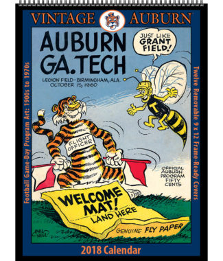 2018 Vintage Auburn Tigers Football Calendar
