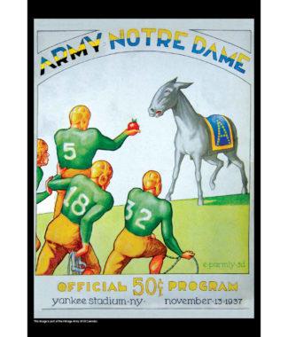 2018 Vintage Army Black Knights Football Calendar January
