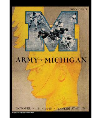 2018 Vintage Army Black Knights Football Calendar October