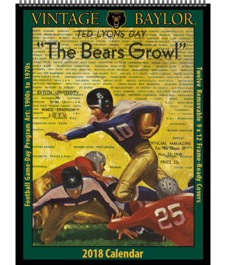 2018 Vintage Baylor Bears Football Calendar
