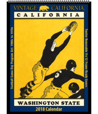 2018 Vintage California Golden Bears Football Calendar