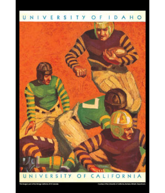 2018 Vintage California Golden Bears Football Calendar January