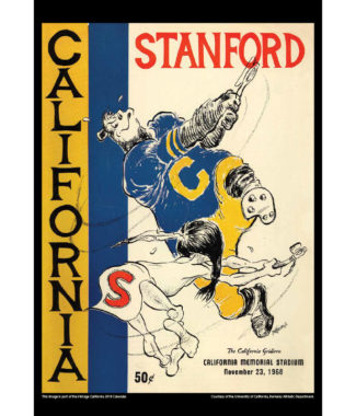 2018 Vintage California Golden Bears Football Calendar March