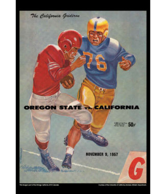 2018 Vintage California Golden Bears Football Calendar May