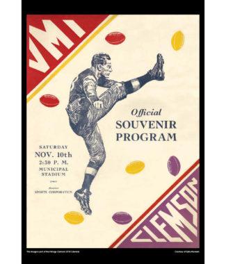 2018 Vintage Clemson Tigers Football Calendar October