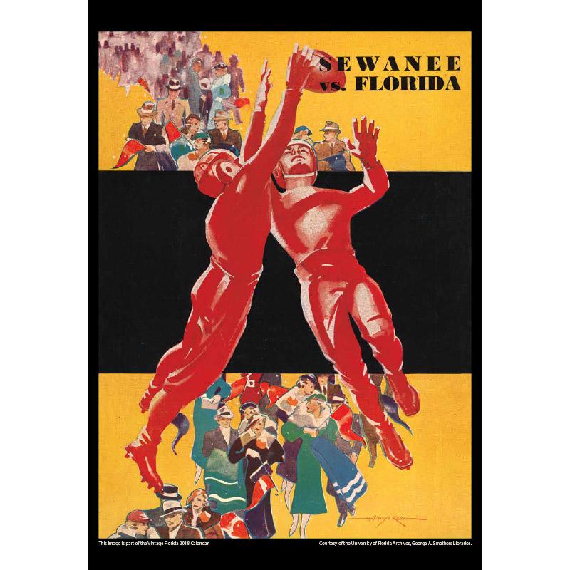 2018 Vintage Florida Gators Football Calendar June