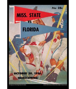 2018 Vintage Florida Gators Football Calendar August