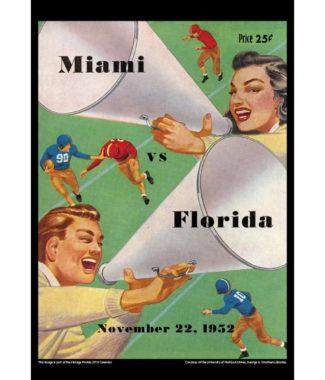 2018 Vintage Florida Gators Football Calendar September