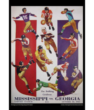 2018 Vintage Georgia Bulldogs Football Calendar January