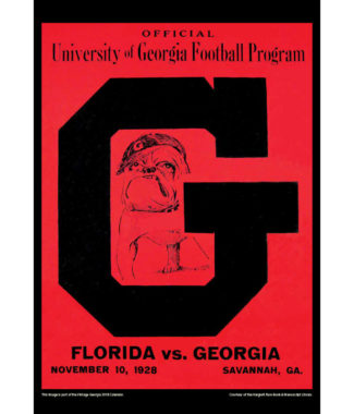 2018 Vintage Georgia Bulldogs Football Calendar February