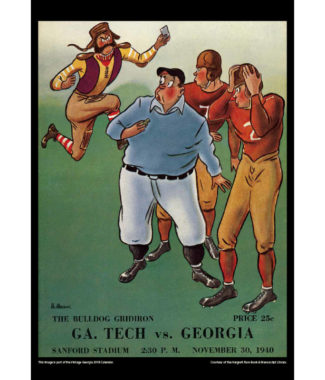 2018 Vintage Georgia Bulldogs Football Calendar June