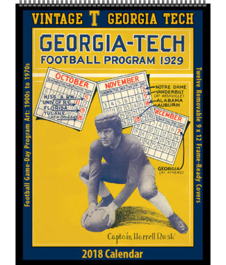 2018 Vintage Georgia Tech Yellow Jackets Football Calendar