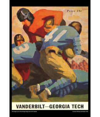 2018 Vintage Georgia Tech Yellow Jackets Football Calendar October