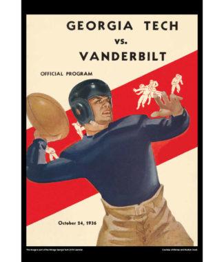 2018 Vintage Georgia Tech Yellow Jackets Football Calendar April