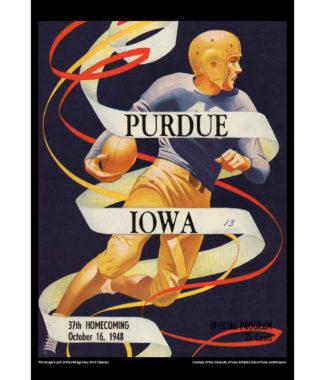 2018 Vintage Iowa Hawkeyes Football Calendar July