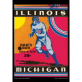 2018 Vintage Illinois Fighting Illini Football Calendar October