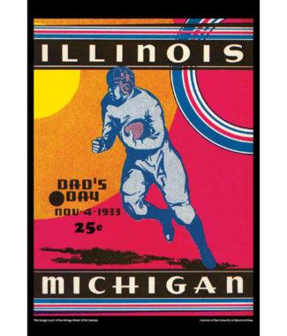 2018 Vintage Illinois Fighting Illini Football Calendar October