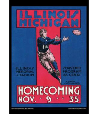 2018 Vintage Illinois Fighting Illini Football Calendar May