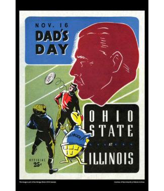 2018 Vintage Illinois Fighting Illini Football Calendar August