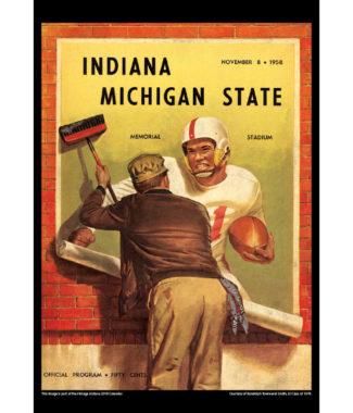 2018 Vintage Indiana Hoosiers Football Calendar January