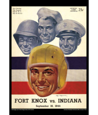 2018 Vintage Indiana Hoosiers Football Calendar July
