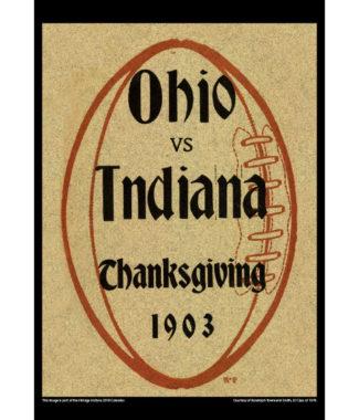 2018 Vintage Indiana Hoosiers Football Calendar September