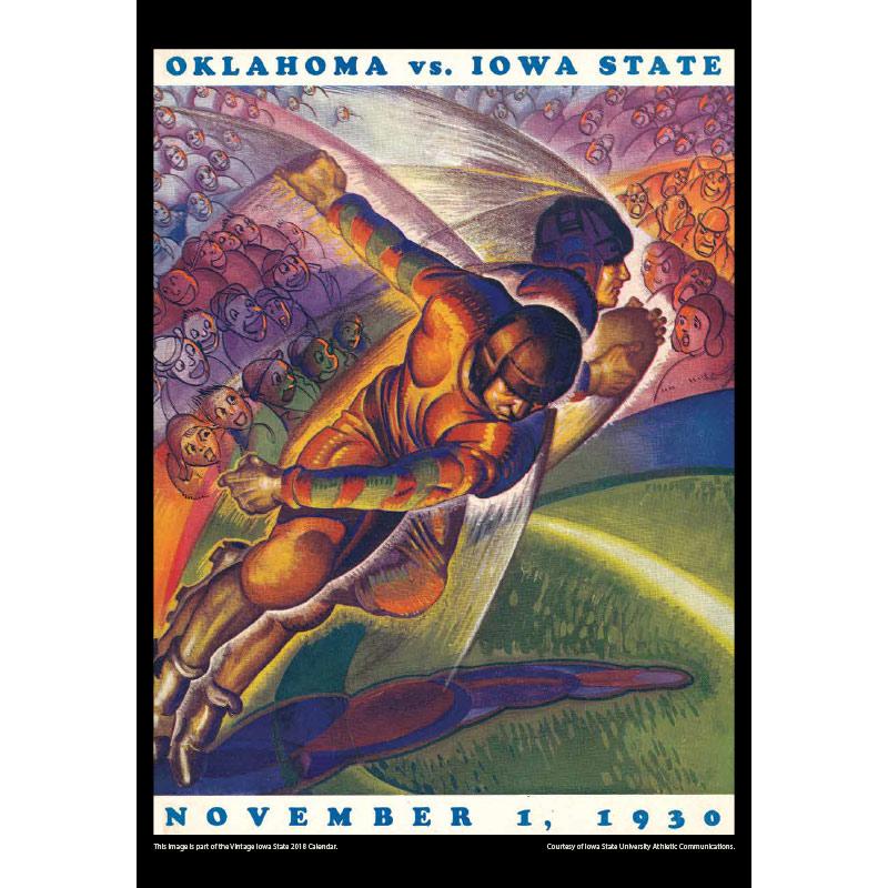 2018 Vintage Iowa State Cyclones Football Calendar January