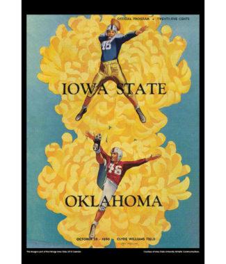 2018 Vintage Iowa State Cyclones Football Calendar October