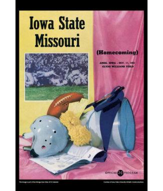 2018 Vintage Iowa State Cyclones Football Calendar February